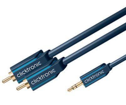 ClickTronic HQ kábel Jack 3,5mm - 2x CINCH, 2m