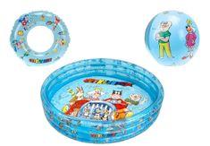 Mikro hračky Zestaw Basten + piłka+ koło