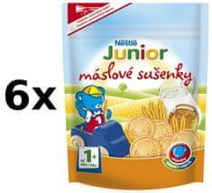 Nestlé Junior máslové sušenky 6x180g