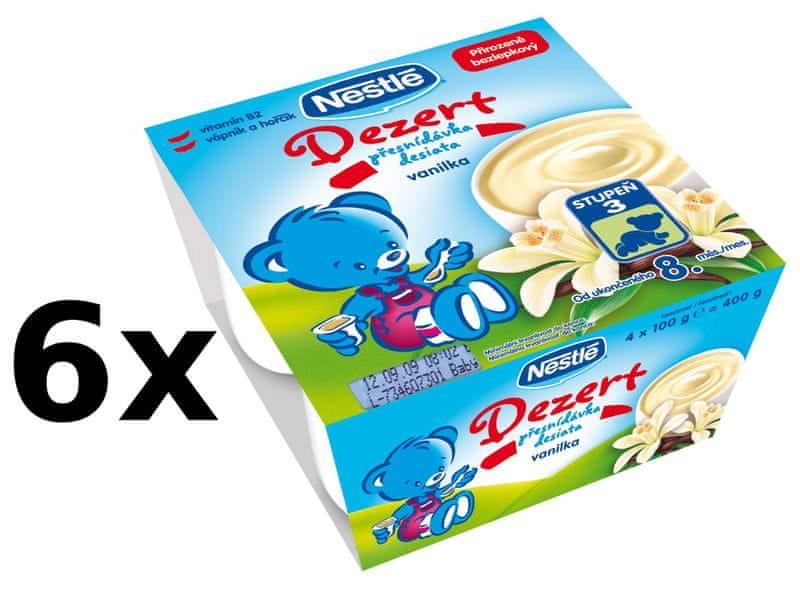 Nestlé Dezert Vanilka - 6x (4x100g)