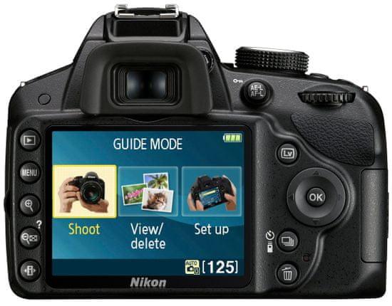Nikon digitalni fotoaparat D3200 + 18-55 AF-S DX VR II + 55-300 AF-S VR, črn