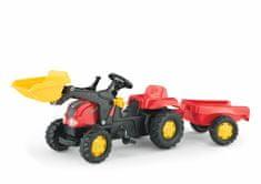 Rolly Toys traktor s prikolico in nakladačem Kid Pedal