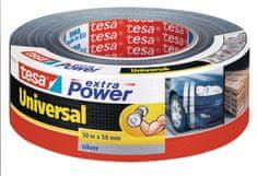 Tesa Tesa Extra Power lepilni trak iz tkanine, 50m x 48mm, srebrn