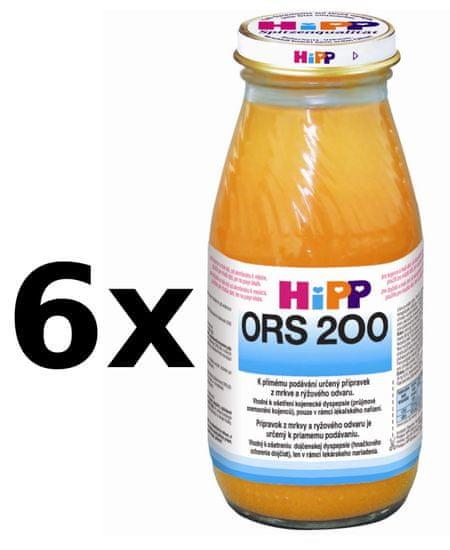 HiPP ORS - mrkvovo rýžový odvar - 6x200ml