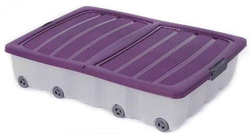 KAISERHOFF Pojízdný úložný plastový box 55l (KO-890267), fialová