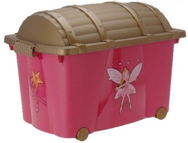 KAISERHOFF Dětský pojízdný úložný box 57 l (KO-896542)