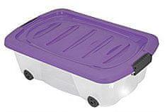 KAISERHOFF Pojízdný úložný box s víkem 24l (KO-899487), fialová