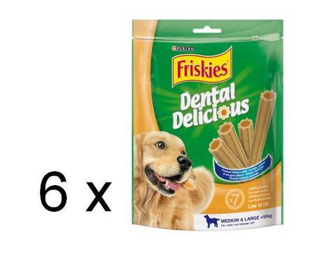 Friskies Dental Delicious Medium jutalomfalat, 6 x 200 g