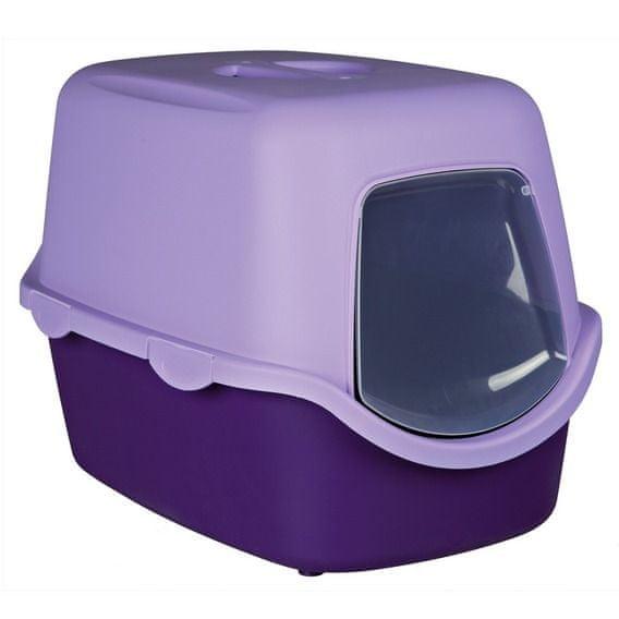Trixie WC VICO kryté s dvířky fialová