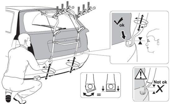 Thule nosilec za kolesa ClipOn 9104