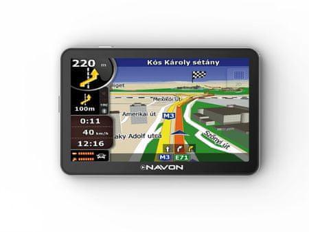 """Navon N670 PLUS  5"""" iGO8 GPS, Magyarország térképpel"""