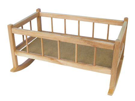 Teddies Kołyska drewniana dla lalek 50 cm