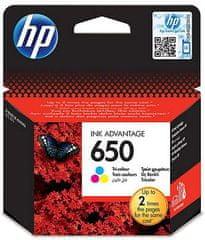 HP kartuša 650 tri barvna (CZ102AE), 200 strani