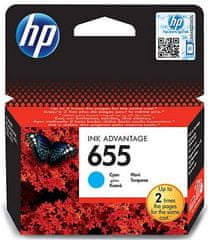 HP kartuša 655 cyan (CZ110AE), 550 strani