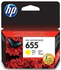 HP kartuša 655, rumena  (CZ112AE)