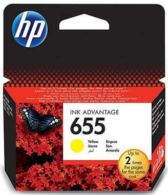 HP náplň č.655 - Žlutá (CZ112AE)