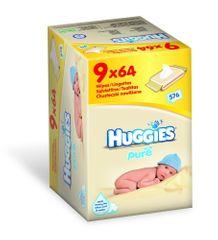 Huggies Pure Nine Pack 9 x 64 db