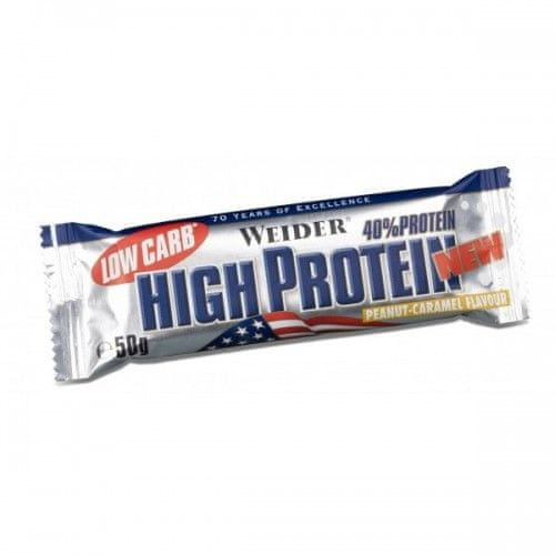 Weider 40% Protein Low Carb High Protein 25 x 50g - Latte Machiato