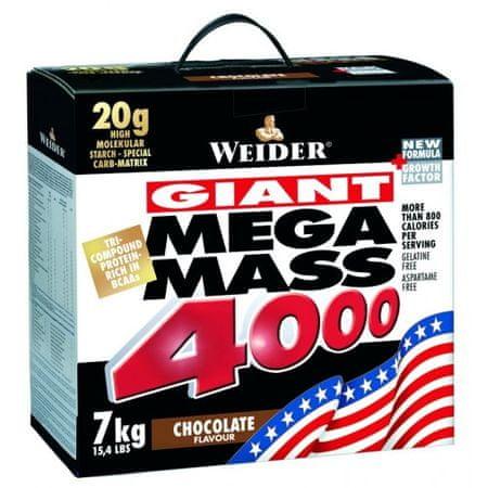 Weider Mega Mass 4000 - 7000g, Čokoláda