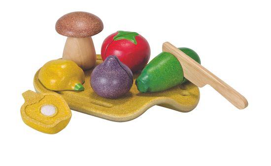 Plan Toys EKO - zelenjava in deska za rezanje