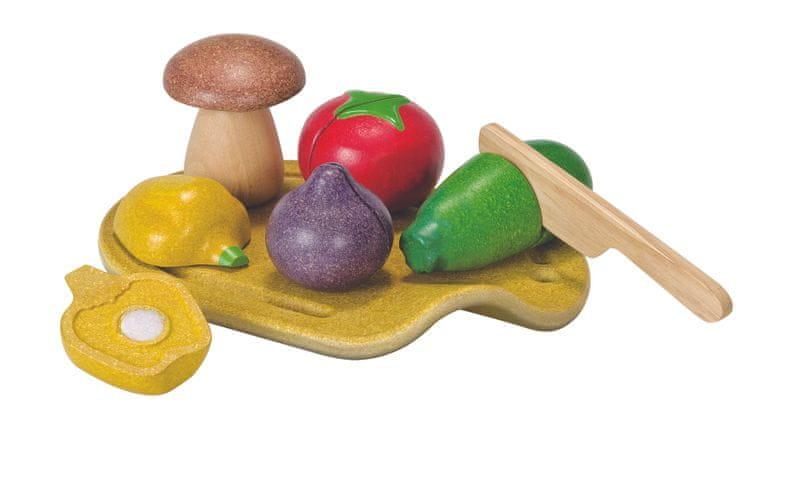 Plan Toys EKO - krájení, zelenina na prkénku