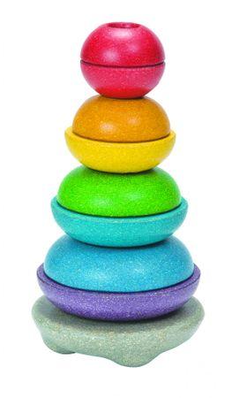 Plan Toys EKO - navlékací misky na tyčku