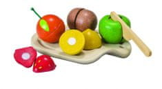 Plan Toys EKO - krájení, ovoce na prkénku