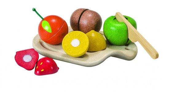 Plan Toys EKO sadje na rezalni deski