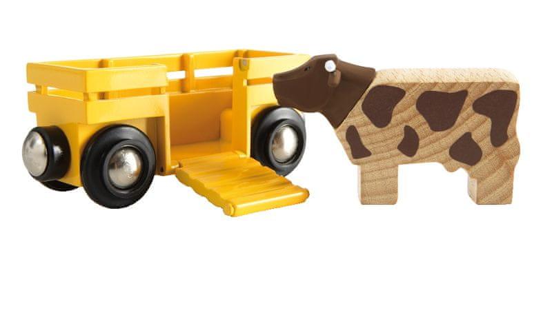 Brio WORLD 33406 Kráva a vagón
