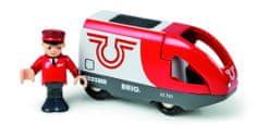Brio Elektrická lokomotíva červeno-biela