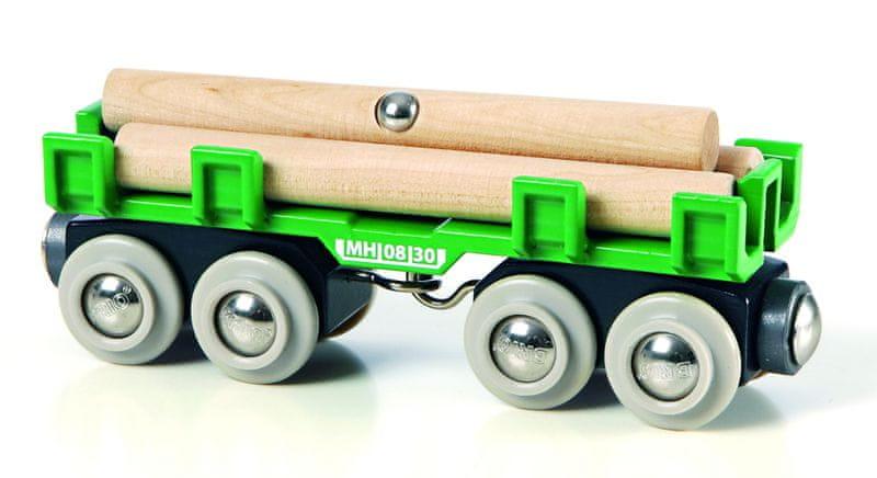 Brio WORLD 33696 Nákladní vagón se dřevem