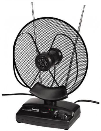 Hama Aktivní pokojová anténa VHF/UHF/FM, 36dB - II. jakost