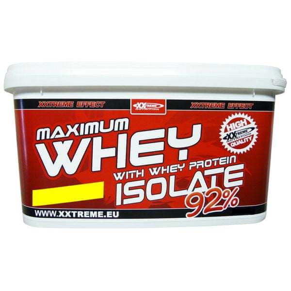 XXlabs Maximum Whey Protein Isolate 92, 1000 g Jahoda