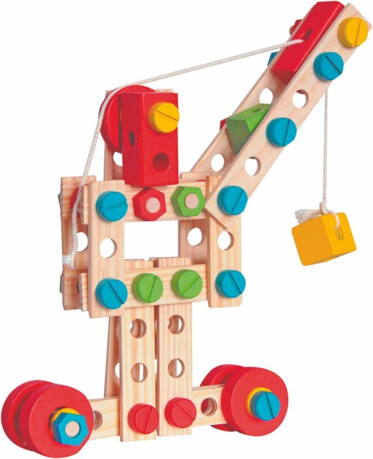 """Woody Montážní stavebnice v kyblíku """"Constructor"""", 130dílů - rozbaleno"""