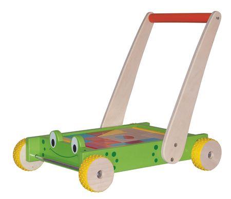 Woody Frog Építőkocka hordozó kiskocsi Fajáték