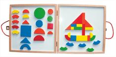 Woody Magnetický kreatívny kufrík s tvarmi