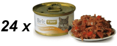 Brit Care Cat konzerva tuniak, mrkva & hrášok 80g