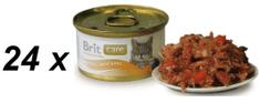 Brit Care Cat konzerva tuňák,mrkev & hrášek 80g
