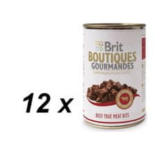 Brit Boutiques Gourmandes  Beef True Meat Bits 12 x 400g
