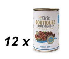 Brit mokra hrana za pse Gourmandes, raca z omako, 12 x 400 g