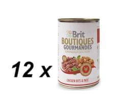 Brit mokra hrana za pse Gourmandes, piščanec z omako, 12 x 400 g