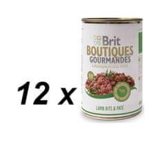 Brit mokra hrana za pse Gourmandes, jagnjetina z omako, 12 x 400g