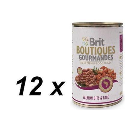 Brit mokra karma dla psa Boutiques Gourmandes Salmon Bits&Paté - 12 x 400g