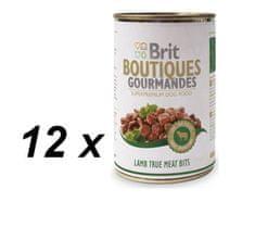 Brit mokra hrana za pse Gourmandes, koščki jagnjetine, 12 x 400g