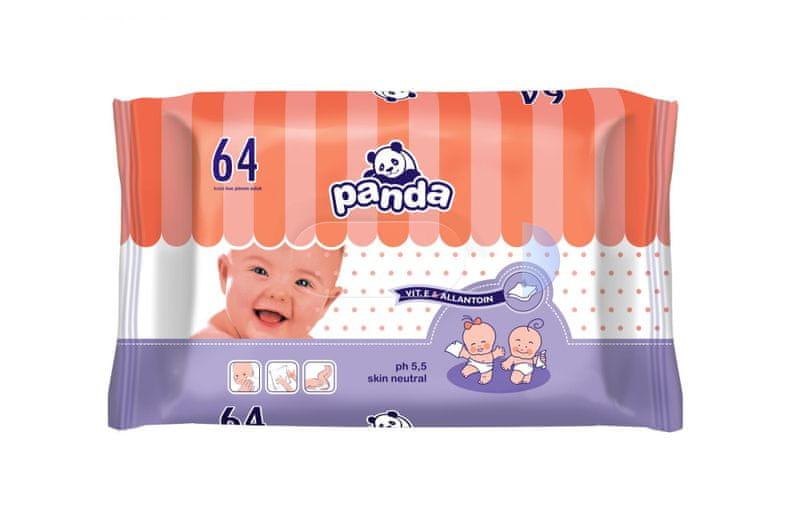 Panda Vlhčené ubrousky 2 x 64 ks