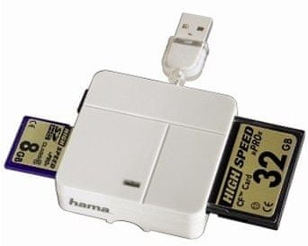Hama Čtečka karet All in OneMulti-CardReader White (94124)