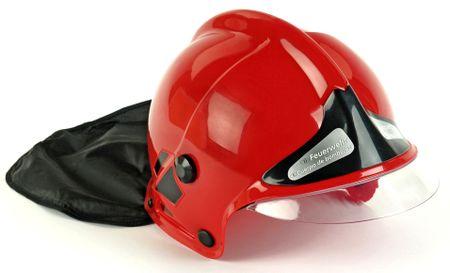 Klein gasilska čelada, rdeča