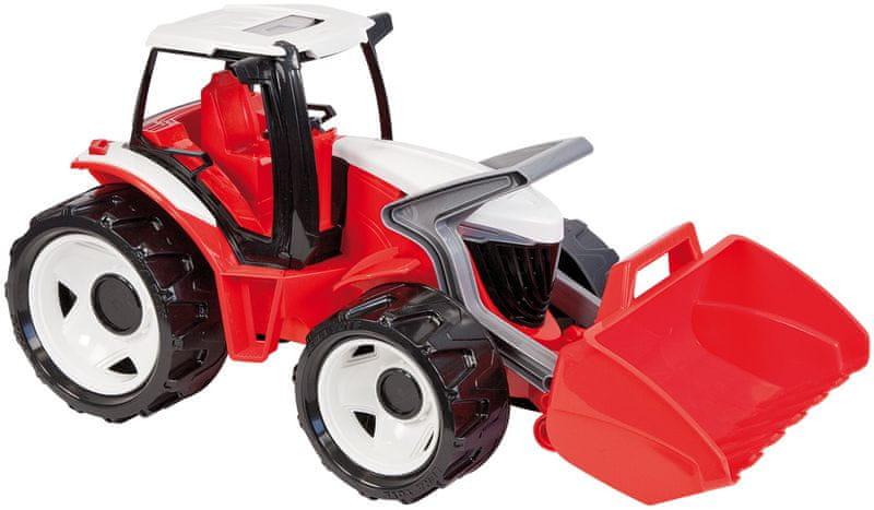 LENA Traktor se lžíci, červeno bílý