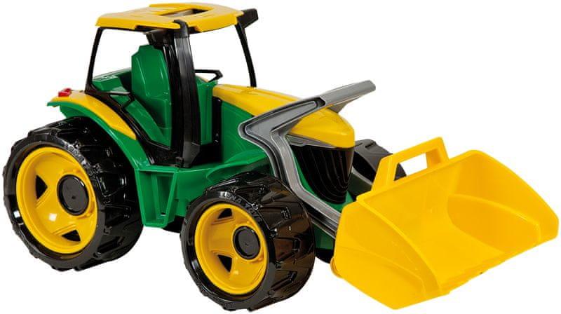 LENA Traktor se lžíci, zeleno žlutý