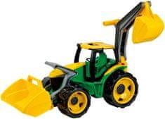 LENA Traktor s lyžicou a bagrom, zeleno žltý